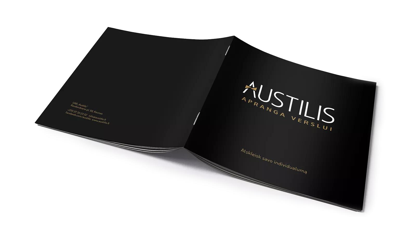 Austilis Brosiuros Dizainas