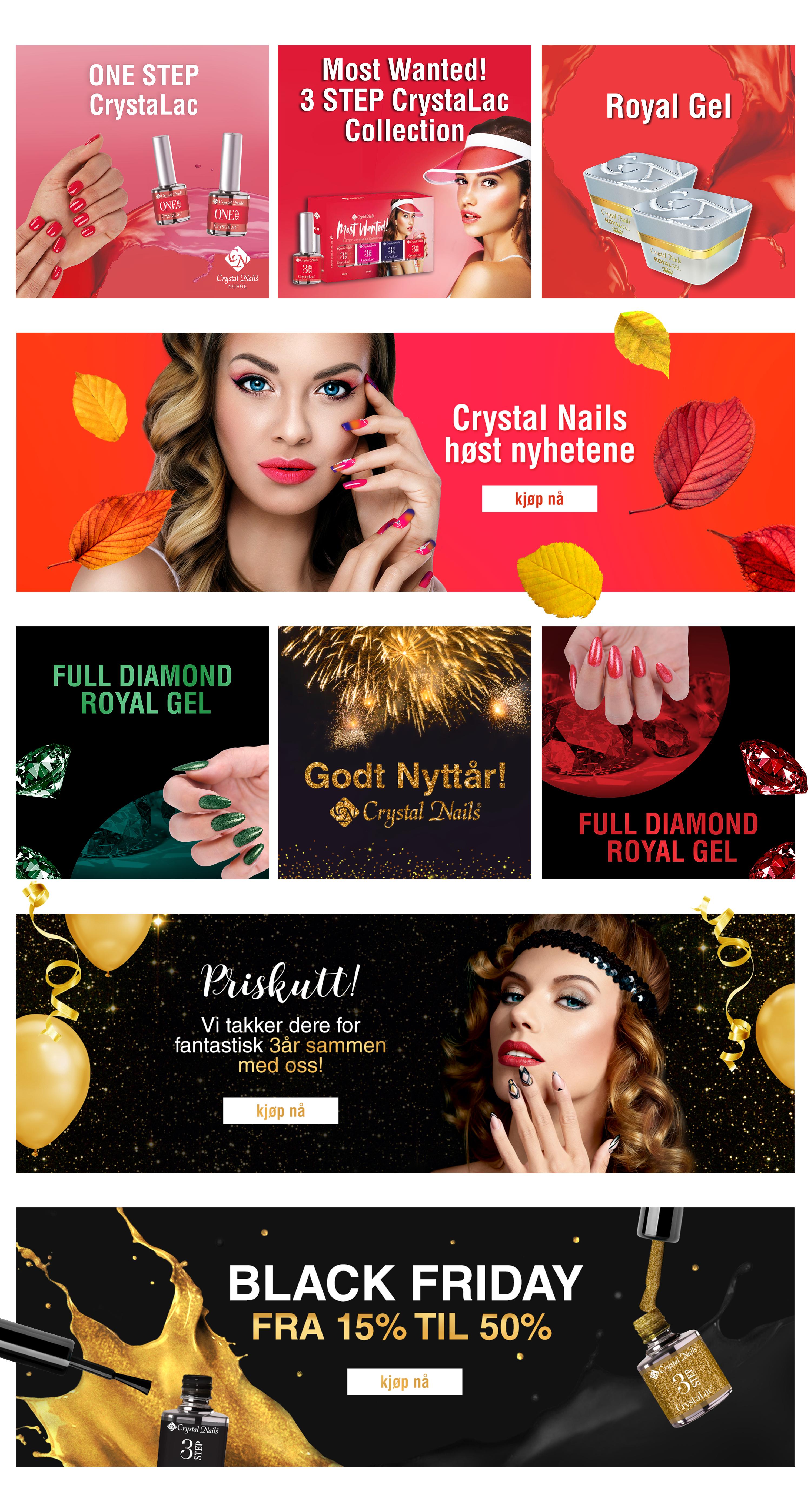 Baneriu Dizainas Crystal Nails 2